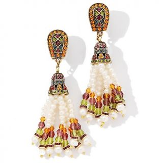 Heidi Daus Crystal Accented Tassel Earrings