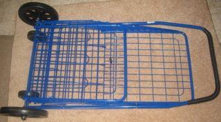 Folding Shopping Laundry Cart Grocery Basket Medium