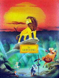 Huge Vintage Disney Lion King Simba Timon Pumba Mountain Movie RARE