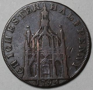 Queen Elizabeth I Chichester Cross Conder 1 2 Penny Token Sussex D