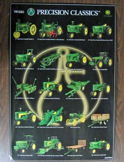 Ertl John Deere Farm Toy Tractor 1 16 Precision Series Poster 1 20 NIP