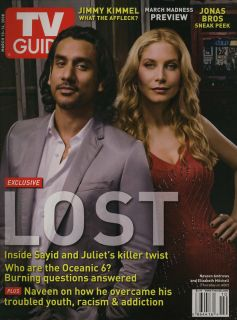 TV Guide Elizabeth Mitchell Naveen Andrews Lost