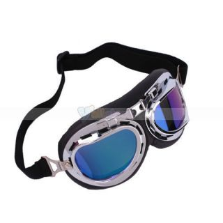 New Color Lenses Motorcycle Goggles Glasses Eye Wear Sun Glasses