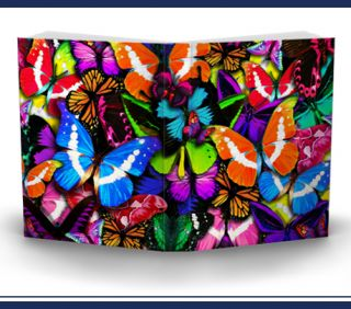 Extreme Butterflies Stretch Fabric Book Sox Cover Jumbo Blue Purple