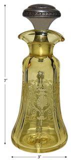 yellow versailles 2375 fairfax salad dressing oil bottle sterling lid