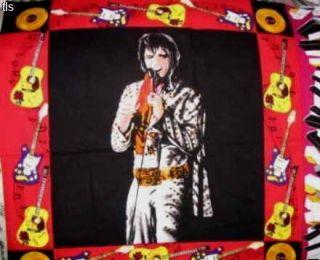 Elvis Presley Live in Concert panel 1993 Shamash cotton fabric