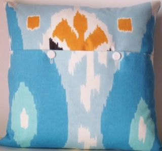 Designers Guild Espanola Way Aqua Miami Ikat Cushion Pillow Cover Free