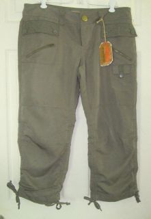 NOBO Olive Cargo Capri Jrs Sz 11 No Boundaries Low Rise
