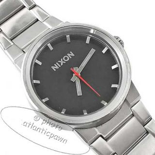 Nixon The Cannon Black Dial A160000 Stainless Steel Watch