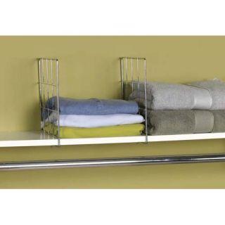 Household Essentials Chrome Set of Two Shelf Dividers