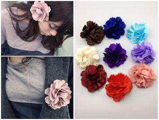 New Sweet Girls Fabric Flower Hair Clip Pin Brooch