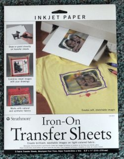 Iron On Fabric Transfer Sheets for Ink Jet Printers by Strathmore