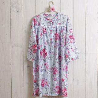 Cotton Clothworks Dress Fabrice Shabby Floral Rose Pink