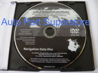 Genuine Factory GM CAD GMC GENERAL MOTORS NAVIGATION DVD MAP DISC