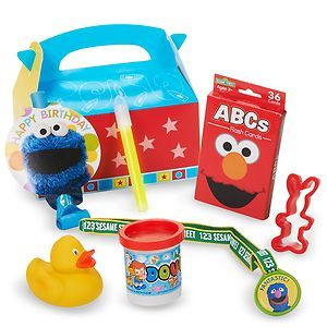 Sesame Street Elmo Birthday Party Supplies Favor Box Kits