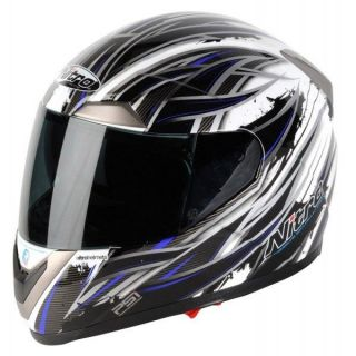 Sidewinder Motorcycle Helmet Black White Blue Sale Price New
