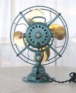 Antique Emerson Electric Fan 19646 Step Base Parker Brass Blade