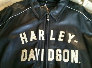 men Harley Davidson leather jacket in Clothing, Shoes & Accessories