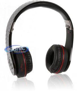 Fanny Wang FW Headph 1003 Red Black Premium on Ear Stereo Headphones