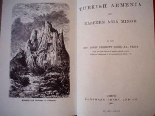 1881 Turkish Armenia Tozer Armenian History Turkey KURD Amasis Bitlis
