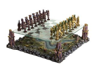 Wholesale Fairy Fantasy Chess Set Glass Top Pewter Chesspieces Gift 15