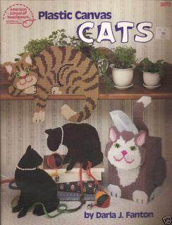 Bk Plastic Canvas CATS American School Needlework Designs by Fanton
