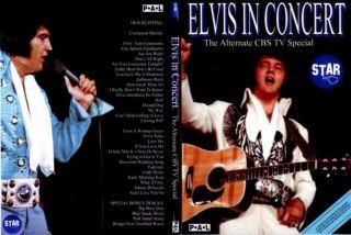 ELVIS PRESLEY DVD ELVIS IN CONCERT The Alternate CBS TV Special BONUS