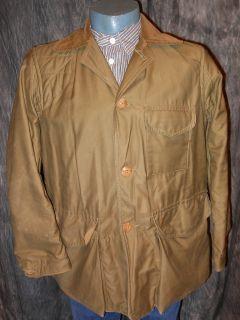 Vintage 40s American Field Hettrick OD Green Duck Cotton Hunting