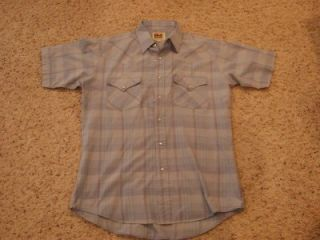 Vintage Ely Cattleman Mens M Short Sleeve Pearl Snap Western Shirt
