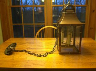 Irvins Tinware Antique Copper Lantern Ceiling Light Foyer Light