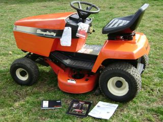 Simplicity Lawn Garden Farm Tractor LTG 12 5 38 mower Deck orig recipt