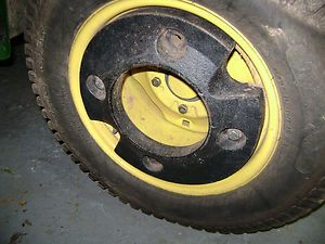 John Deere Farm Garden And Lawn Mower Riding Tractor Rear Wheel