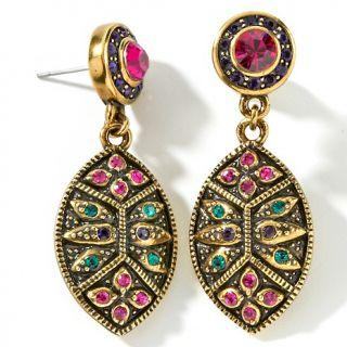 Heidi Daus Heidi Daus Byzantine Beauty Crystal Drop Earrings