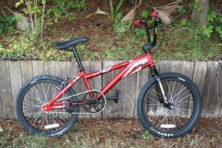 PowerLite P19 Falcon Cromo BMX Bike Red Metallic