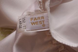 Farr West White Polyester Mini Half Slip Lustrous Shiny Smooth Slick