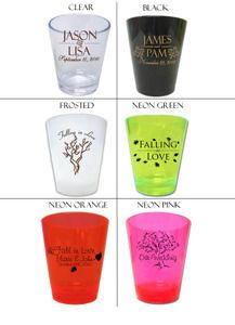 120 Personalized Fall Wedding Favor Shot Glasses