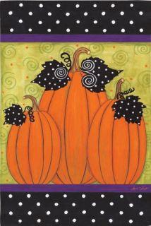 Whimsy Pumpkins Fall Autumn Garden Flag Mini Flags