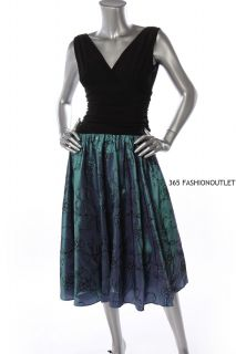 Fashions New Womens Floral Embroidery Cocktail Dress Black Multi