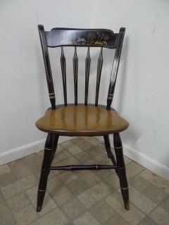Ethan Allen Thumb Back Chair Country Hitchcock Paint