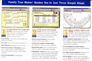 Family Tree Maker 5 0 PC CD Research Genealogy Relatives Names