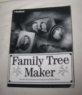 Broderbund Family Tree Maker Book
