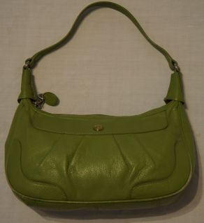 Etienne Aigner Womens Green Genuine Cowhide Leather Hobo Shoulder Bag