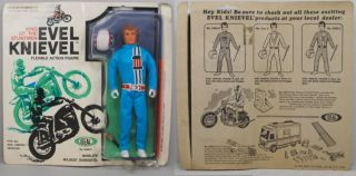 evel knievel 1972 ideal moc action figure blue outfit