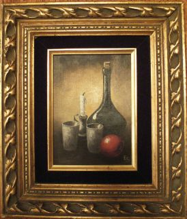 Listed California artist Eugene Schmidt original oil painting still
