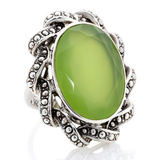 175 346 nicky butler 15 50ct peri chalcedony sterling silver oval ring