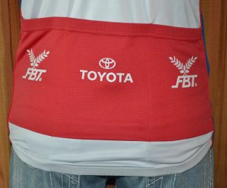 FBT Sang SOM Tour Thailand Short Sleeve White Blue Red Cycling Jersey