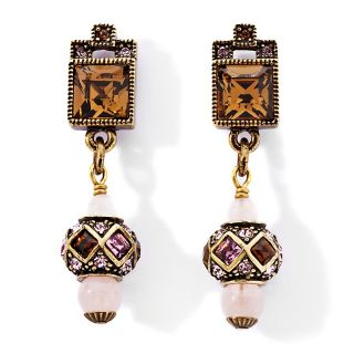 184 034 heidi daus crystal accented lariat bead drop earrings rating