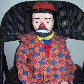 30in Emmett Kelly Jr Ventriloquist Doll Clown Dummy Puppet