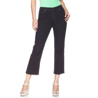 180 618 diane gilman stretch denim cropped boot cut jeans rating 98 $