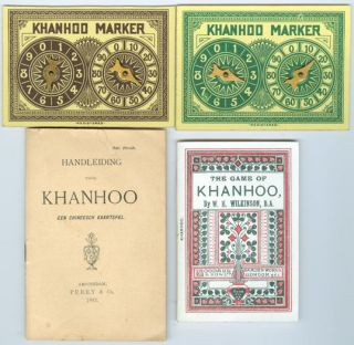 Rare ANTIQUE Chinese Playing Cards Game KHANHOO   GOODALL  1891